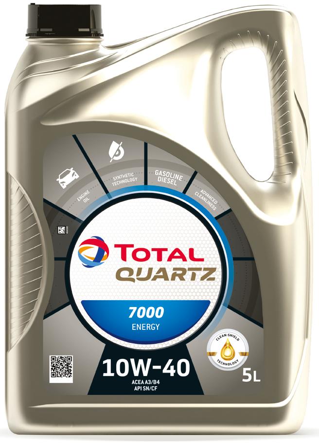MOTOROVÝ OLEJ TOTAL QUARZT 7000 10W40 5L - Viskózní třída 10W-40 TOTAL