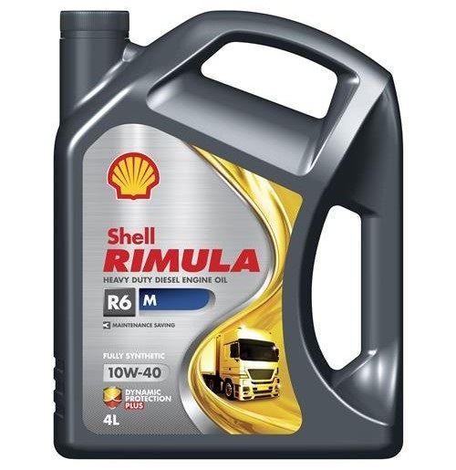 MOTOROVÝ OLEJ SHELL RIMULA 10W40 R6 M 4L - viskózní třída 10W-40 SHELL