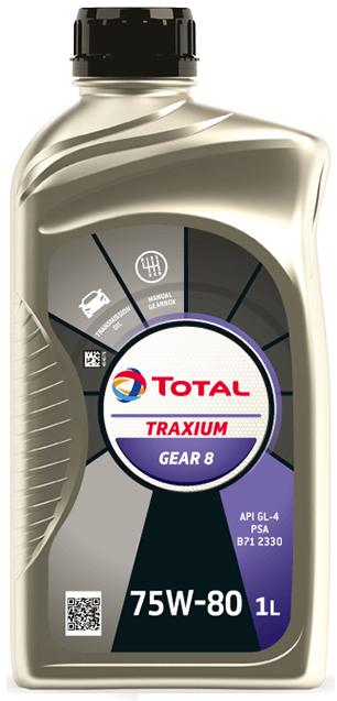 PŘEVODOVÝ OLEJ TOTAL TRANSMISSION GEAR 8 75W80 1L - Viskózní třída 75W-80 TOTAL
