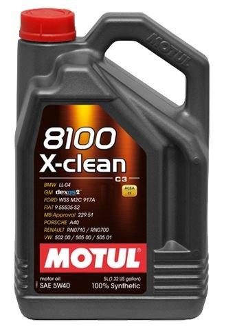 MOTOROVÝ OLEJ MOTUL 8100 XCLEAN+ C3 5W40 5L - Viskózní třída 5W-40