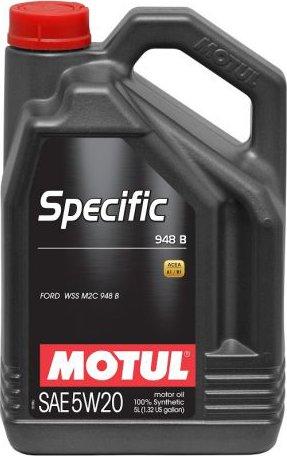 MOTOROVÝ OLEJ MOTUL SPECIFIC 948B 5W20 5L - Viskózní třída 5W-20