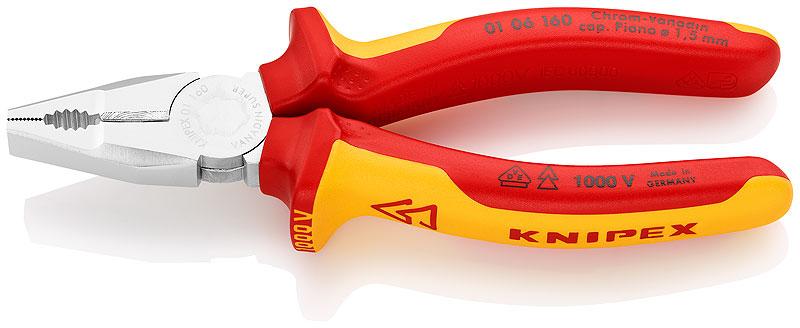 Knipex kombinované kleště chromvadanové 0106160