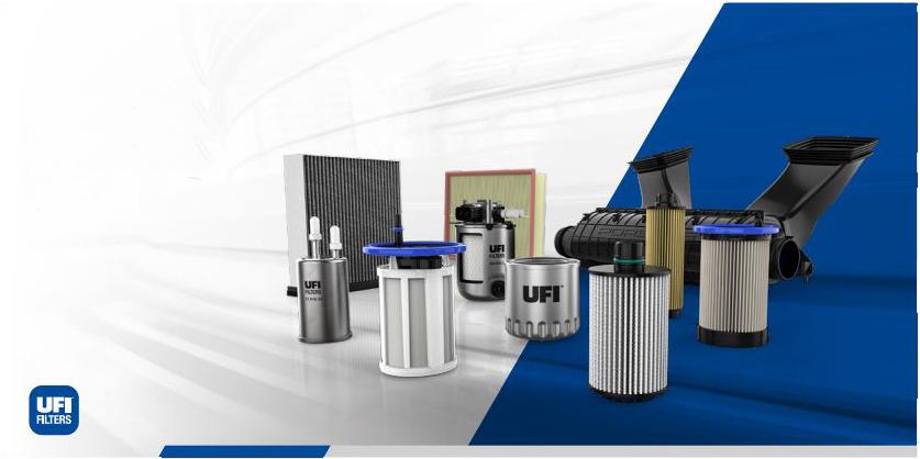 UFI Filtry olejové, vzduchové, kabinové
